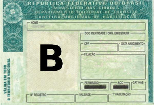 Carteira de Motorista B